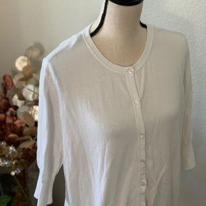 🕶5/$25 Haparanda style- new white cardigan